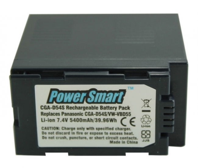 Power Smart Replacement For Panasonic Cga - D54s And Vw - Vbd55 Batteries
