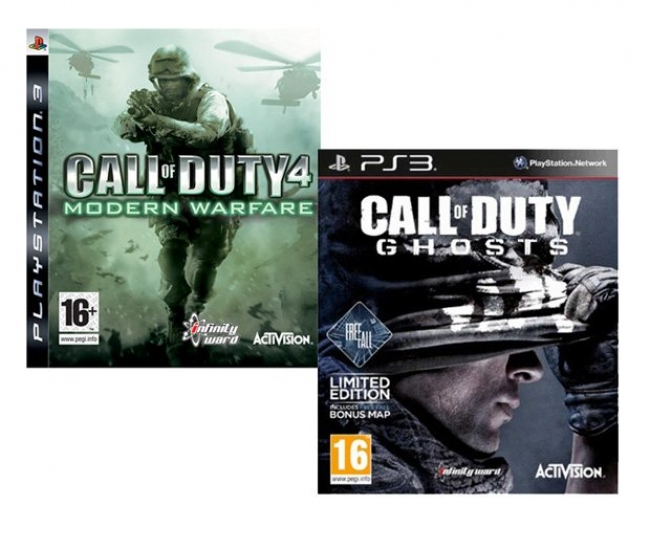 Call of Duty Ghosts + Call of Duty 4 Modern Warfare PS3