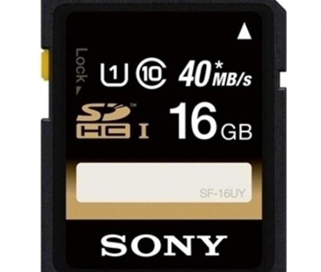 Sony 16 GB SDHC Memory Card Class 10 (SF-16UY)
