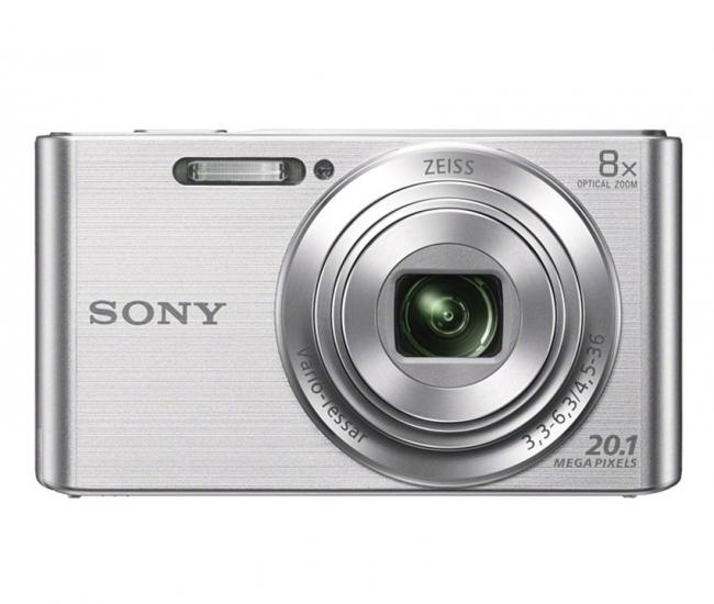 Sony CyberShot DSC W830 20.1MP Point & Shoot Digital Camera (Silver)
