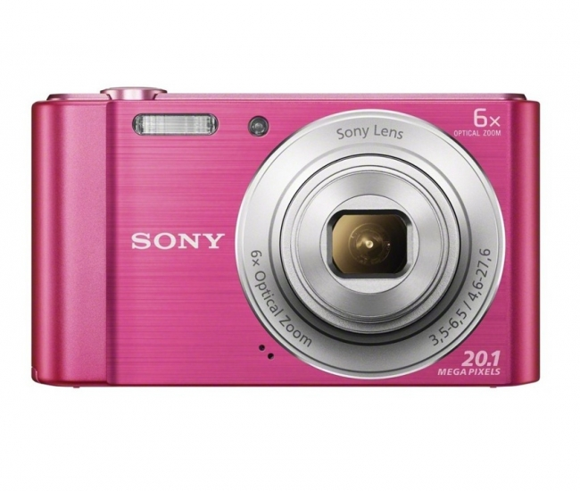 Sony CyberShot W810 20.1MP Point & Shoot Digital Camera (Pink)