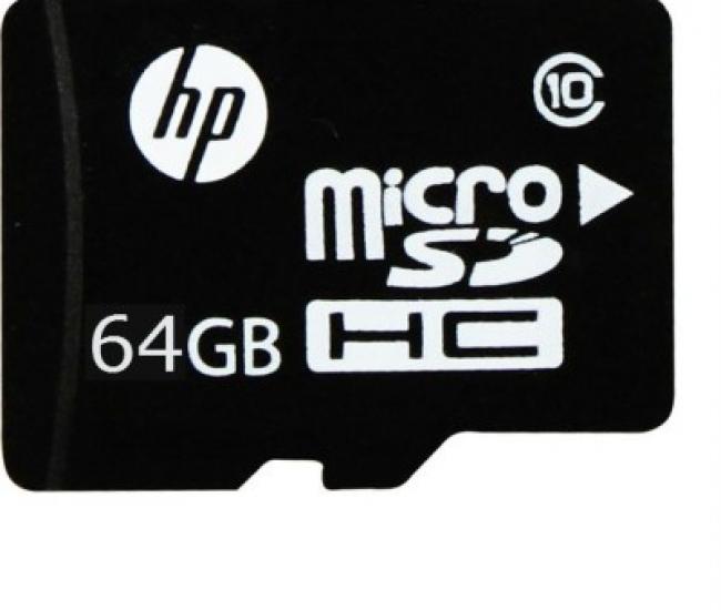 HP 64 GB MicroSDHC Class 10 91 MB/s  Memory Card