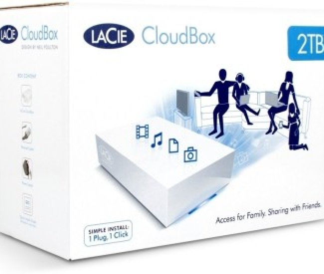 LaCie CloudBox 2 TB External Hard Disk Drive