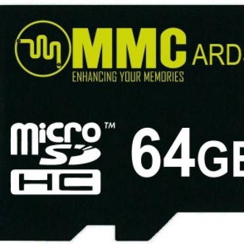 MMC 64 GB MicroSDHC Class 10  Memory Card