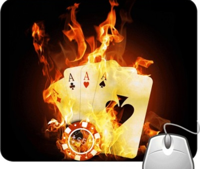Pinaki Ace Card Fire Mousepad