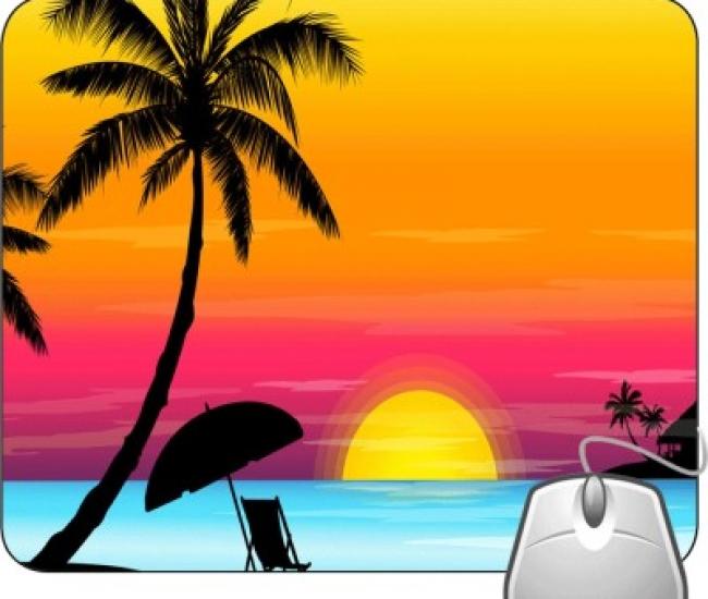 Pinaki Beach Scene Mousepad