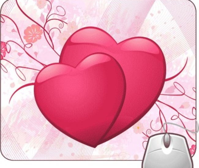 Pinaki Hearts in Love Mousepad