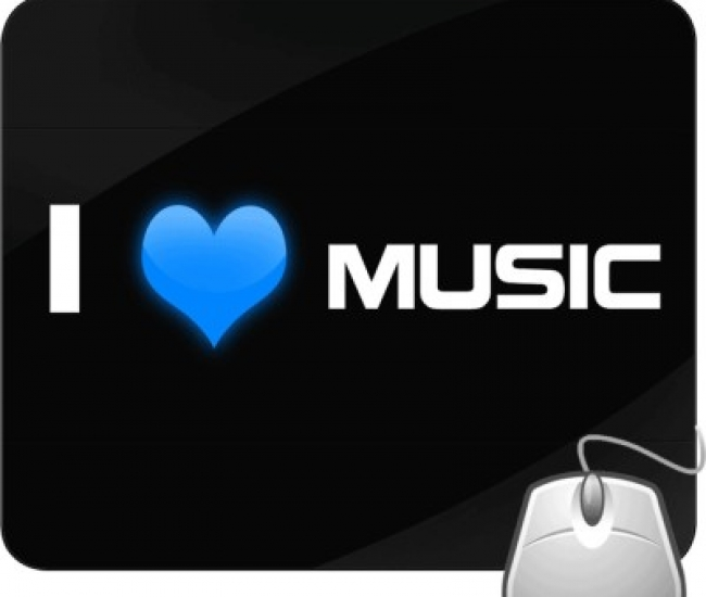 Pinaki I Love Music Mousepad