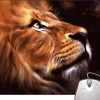 Pinaki Lion Face Mousepad