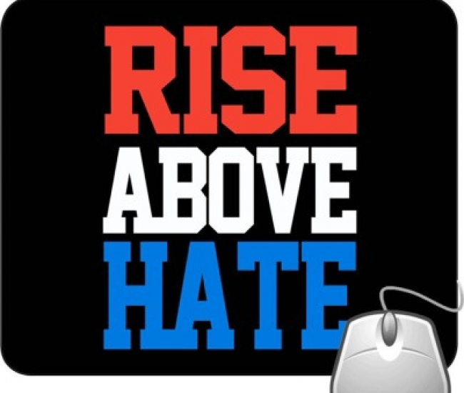 Pinaki Rise Above Hate 1 Mousepad