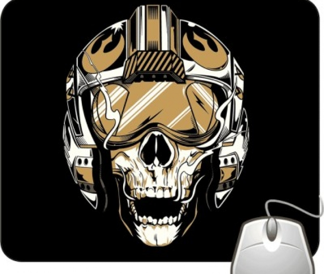 Pinaki Skull The Pilot Mousepad