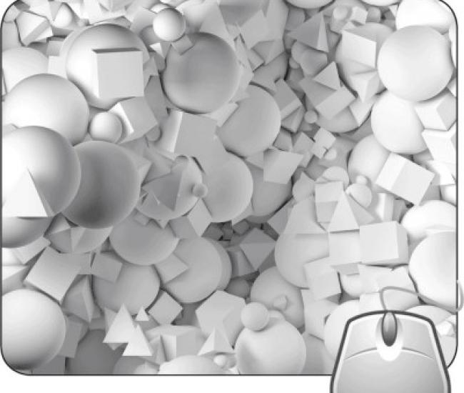 Pinaki White Puzzle Mousepad