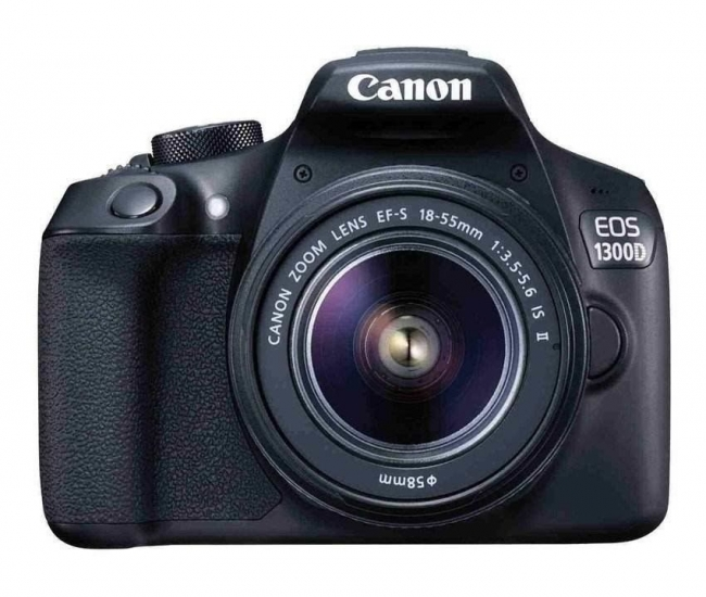 Canon Eos 1300d With 18 - 55 Mm + 55 - 250 Mm Lens (rebel T6)