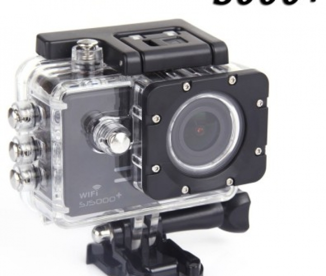 Sjcam SJ 5000 Wifi + Sjcam Sj5000+ Water Resistant Helmet Head Video Camcorder (Black) Sports & Action Camera