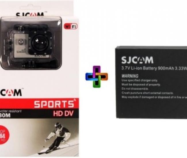 SJCAM SJ Sjcam 4000 Sj _2 Sjcam 4000 Wifi Golden _ 1 Battery Sports & Action Camera