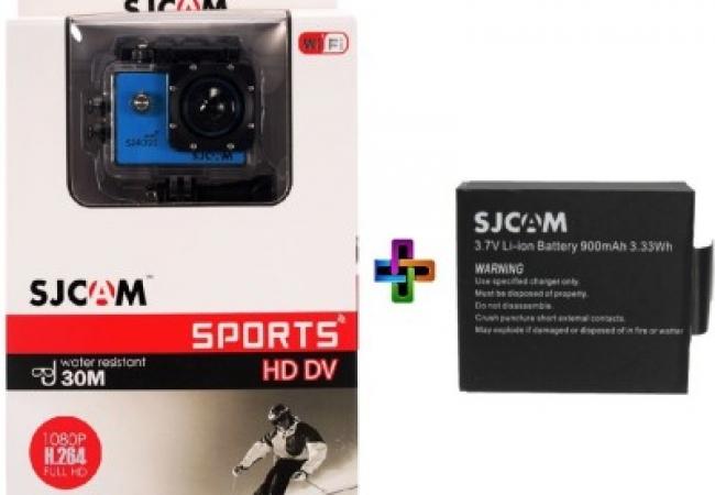 SJCAM SJ Sjcam4000Sj_5 Sjcamj4000WifiBlue_1Battery Sports & Action Camera