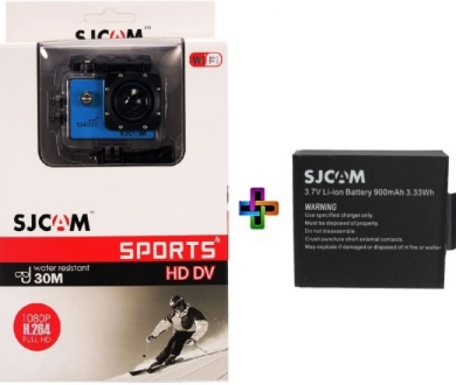 SJCAM SJ Sjcam 4000 Sj _5 Sjcam 4000 Wifi Blue_1Battery Sports & Action Camera