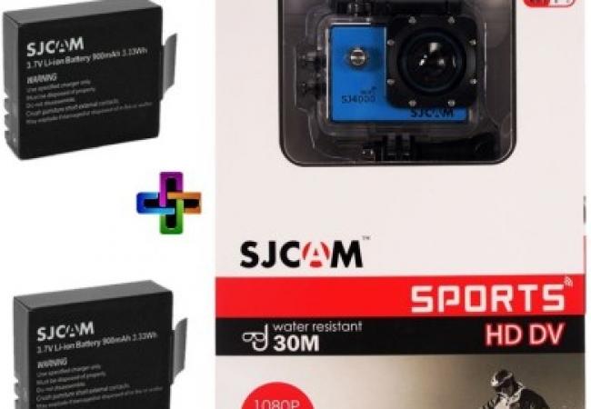 SJCAM SJ Sjcam 4000 Sj _6 Sjcam 4000 Wifi Blue_2Battery Spor...
