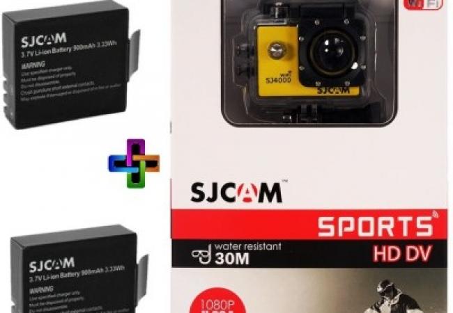 SJCAM SJ Sjcam 4000 Sj _9 Sjcam 4000 Wifi Yellow_2Battery Sports & Action Camera
